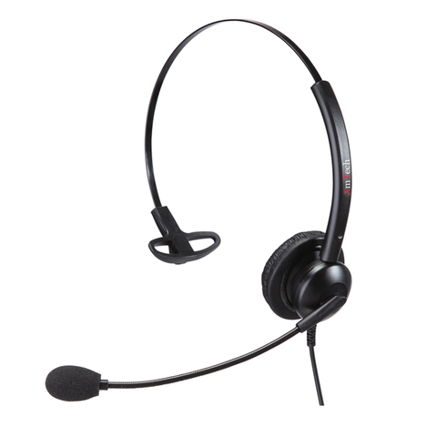 Amtech Wired Headset with Quick Disconnect Cable for Grandstream Phones