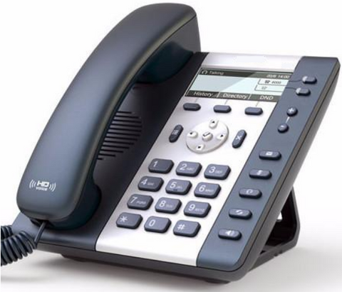 Helix Telecom HTA20W - 2 Line Wired+WiFi Desktop Phone