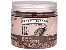 Henry Langdon Cracked Black Pepper Sea Salt Rub