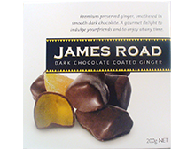 James Road Dark Chocolate Coated Ginger