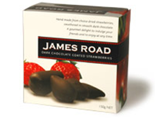 James Road Dark Chocolate Coated Strawberries