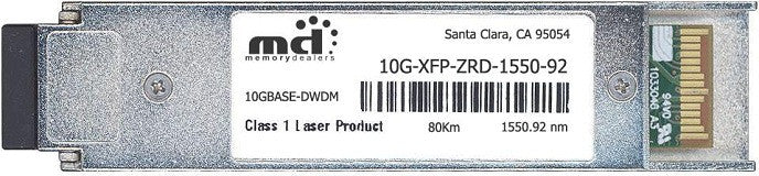 Foundry Networks 10G-XFP-ZRD-1550-92 (100% Foundry Compatible) XFP Transceiver Module