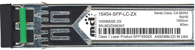 Cisco SFP Transceivers 15454-SFP-LC-ZX (100% Cisco Compatible) SFP Transceiver Module