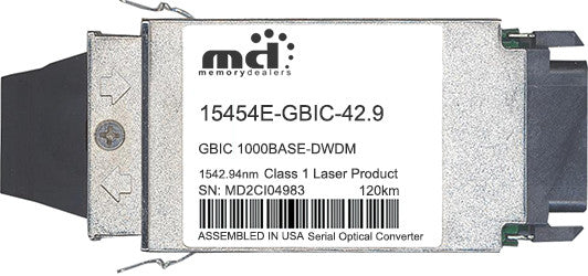 Cisco GBIC Transceivers 15454E-GBIC-42.9 (100% Cisco Compatible) GBIC Transceiver Module
