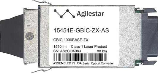 Cisco GBIC Transceivers 15454E-GBIC-ZX-AS (Agilestar Original) GBIC Transceiver Module