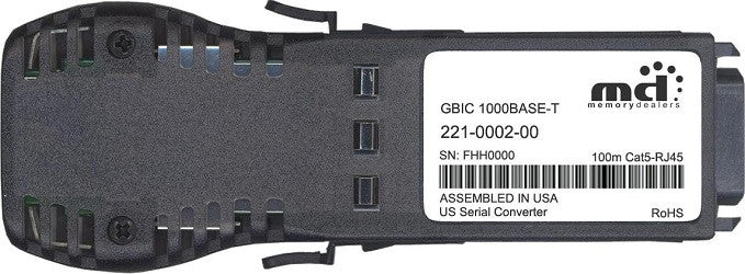 McAfee 221-0002-00 (100% McAfee Compatible) GBIC Transceiver Module
