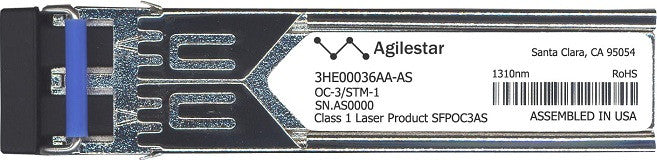 Alcatel SFP Transceivers 3HE00036AA-AS (Agilestar Original) SFP Transceiver Module