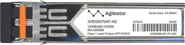 Alcatel SFP Transceivers 3HE00070AF-AS (Agilestar Original) SFP Transceiver Module