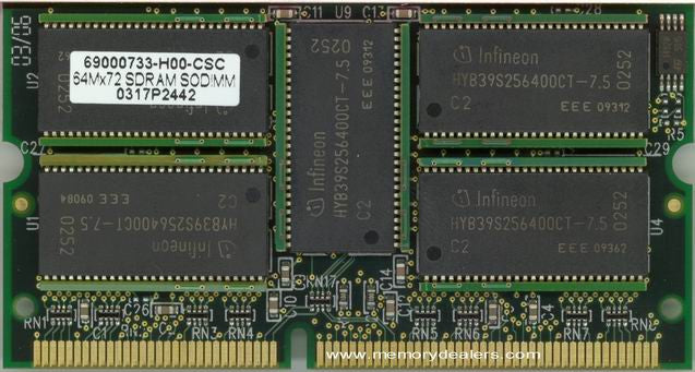 Memory 512MB Cisco Supervisor Engine 2U 3rd Party Memory Upgrade (p/n MEM-S2-512MB) Router Memory Transceiver Module