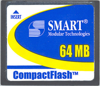 Memory 64MB Cisco Sup Eng 720 Approved Compact Flash (p/n MEM-C6K-CPTFL64M) Router Memory Transceiver Module