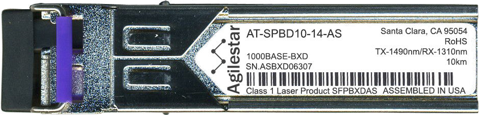 Allied Telesis AT-SPBD10-14-AS (Agilestar Original) SFP Transceiver Module