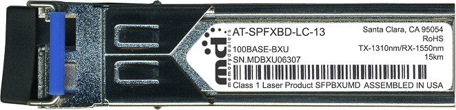 Allied Telesis AT-SPFXBD-LC-13 (100% Allied Telesis Compatible) SFP Transceiver Module