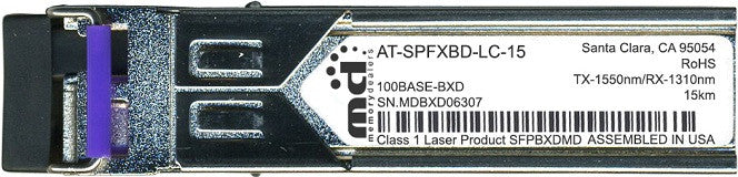 Allied Telesis AT-SPFXBD-LC-15 (100% Allied Telesis Compatible) SFP Transceiver Module