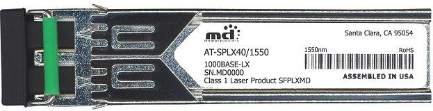 Allied Telesis AT-SPLX40/1550 (100% Allied Telesis Compatible) SFP Transceiver Module