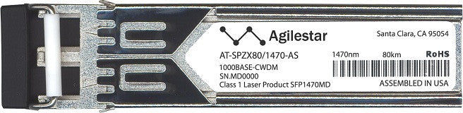 Allied Telesis AT-SPZX80/1470-AS (Agilestar Original) SFP Transceiver Module