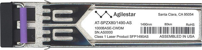 Allied Telesis AT-SPZX80/1490-AS (Agilestar Original) SFP Transceiver Module