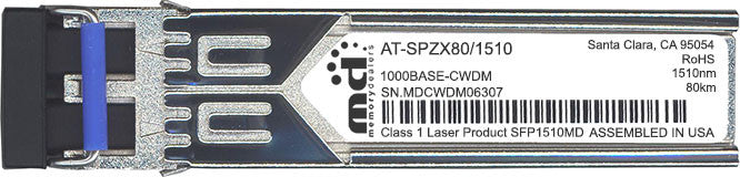 Allied Telesis AT-SPZX80/1510 (100% Allied Telesis Compatible) SFP Transceiver Module