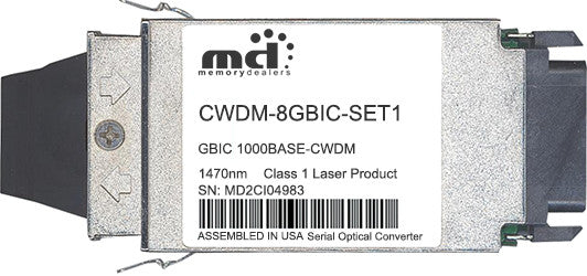 Cisco GBIC Transceivers CWDM-8GBIC-SET1 (100% Cisco Compatible) GBIC Transceiver Module