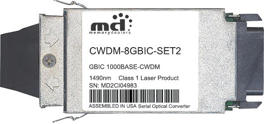 Cisco GBIC Transceivers CWDM-8GBIC-SET2 (100% Cisco Compatible) GBIC Transceiver Module