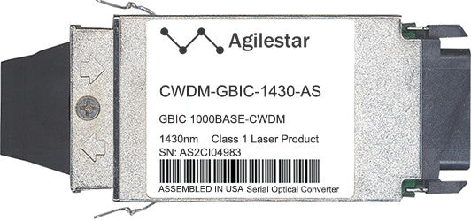 Cisco GBIC Transceivers CWDM-GBIC-1430-AS (Agilestar Original) GBIC Transceiver Module