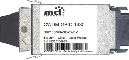 Cisco GBIC Transceivers CWDM-GBIC-1430 (100% Cisco Compatible) GBIC Transceiver Module