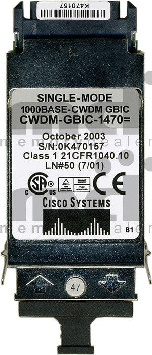 Cisco GBIC Transceivers CWDM-GBIC-1470 (Cisco Original) GBIC Transceiver Module
