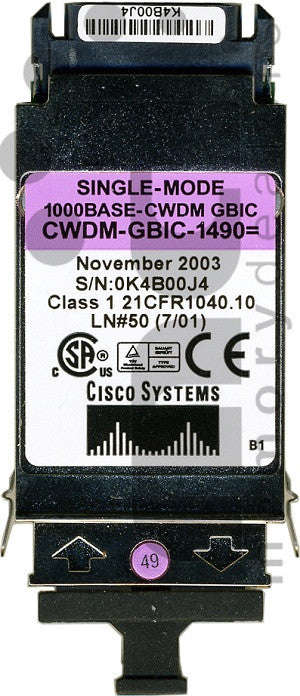 Cisco GBIC Transceivers CWDM-GBIC-1490 (Cisco Original) GBIC Transceiver Module