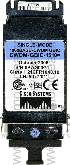 Cisco GBIC Transceivers CWDM-GBIC-1510 (Cisco Original) GBIC Transceiver Module