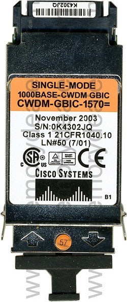 Cisco GBIC Transceivers CWDM-GBIC-1570 (Cisco Original) GBIC Transceiver Module