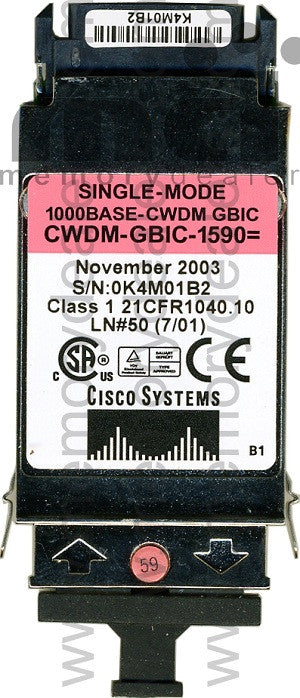 Cisco GBIC Transceivers CWDM-GBIC-1590 (Cisco Original) GBIC Transceiver Module