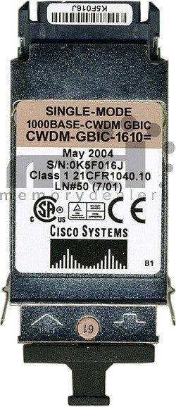 Cisco GBIC Transceivers CWDM-GBIC-1610 (Cisco Original) GBIC Transceiver Module