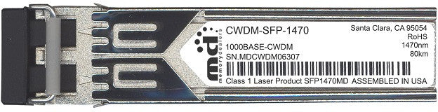 Cisco SFP Transceivers CWDM-SFP-1470 (100% Cisco Compatible) SFP Transceiver Module