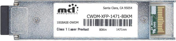 Cisco XFP Transceivers CWDM-XFP-1471-80KM (100% Cisco Compatible) XFP Transceiver Module