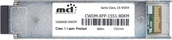 Cisco XFP Transceivers CWDM-XFP-1551-80KM (100% Cisco Compatible) XFP Transceiver Module