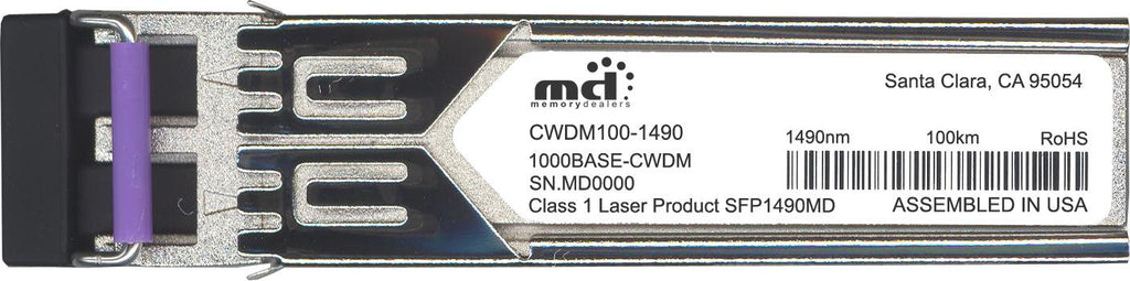 Foundry Networks CWDM100-1490 (100% Foundry Compatible) SFP Transceiver Module