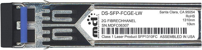 Cisco SFP Transceivers DS-SFP-FCGE-LW (100% Cisco Compatible) SFP Transceiver Module
