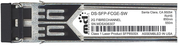Cisco SFP Transceivers DS-SFP-FCGE-SW (100% Cisco Compatible) SFP Transceiver Module