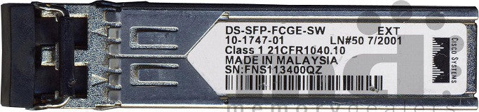 Cisco SFP Transceivers DS-SFP-FCGE-SW (Cisco Original) SFP Transceiver Module