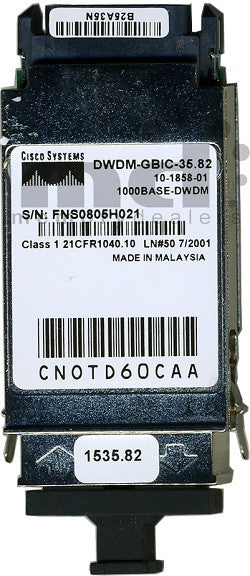 Cisco GBIC Transceivers DWDM-GBIC-35.82 (Cisco Original) GBIC Transceiver Module