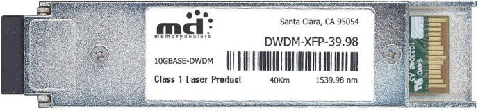 Cisco XFP Transceivers DWDM-XFP-39.98 (100% Cisco Compatible) XFP Transceiver Module