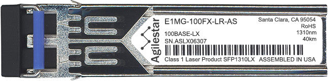 Foundry Networks E1MG-100FX-LR-AS (Agilestar Original) SFP Transceiver Module