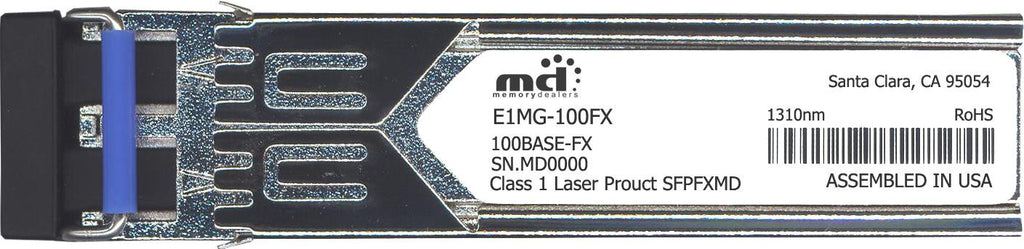 Foundry Networks E1MG-100FX (100% Foundry Compatible) SFP Transceiver Module