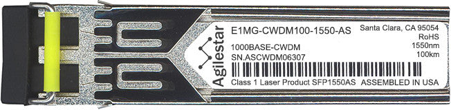 Foundry Networks E1MG-CWDM100-1550-AS (Agilestar Original) SFP Transceiver Module