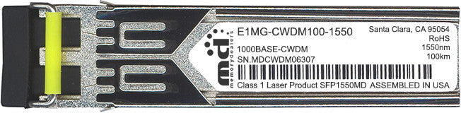 Foundry Networks E1MG-CWDM100-1550 (100% Foundry Compatible) SFP Transceiver Module
