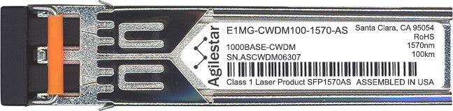 Foundry Networks E1MG-CWDM100-1570-AS (Agilestar Original) SFP Transceiver Module