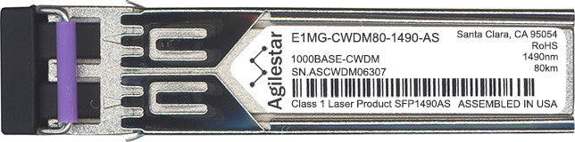 Foundry Networks E1MG-CWDM80-1490-AS (Agilestar Original) SFP Transceiver Module