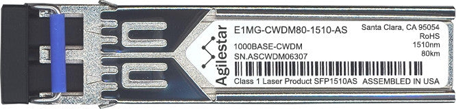 Foundry Networks E1MG-CWDM80-1510-AS (Agilestar Original) SFP Transceiver Module