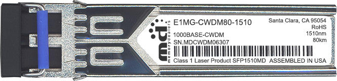 Foundry Networks E1MG-CWDM80-1510 (100% Foundry Compatible) SFP Transceiver Module