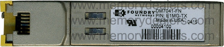Foundry Networks E1MG-TX (Foundry Original) SFP Transceiver Module