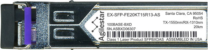 Juniper Networks EX-SFP-FE20KT15R13-AS (Agilestar Original) SFP Transceiver Module